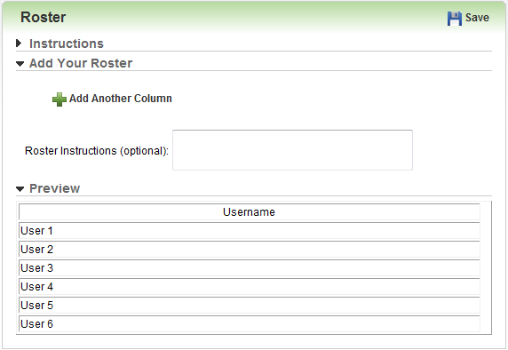 customizing the enrollment roster template